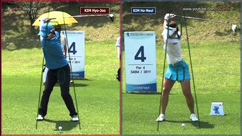 klpga swing slow hd kim hyo joo vs kim ha neul driver golf swing