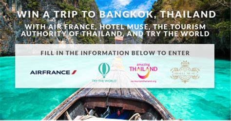 Vacation Sweepstakes And Giveaways 2014 - thailand vacation giveaway win a trip for two to bangkok thailand sun sweeps