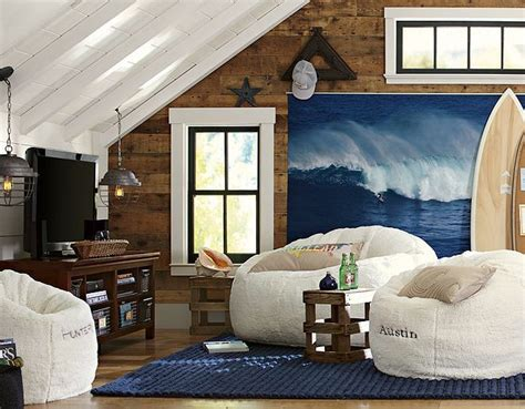 cool surfer hang out room for the home