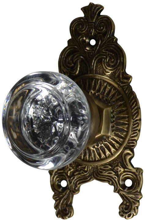Antique Door Knob Sets by Ornate Door Knob Set Antique Brass Finish