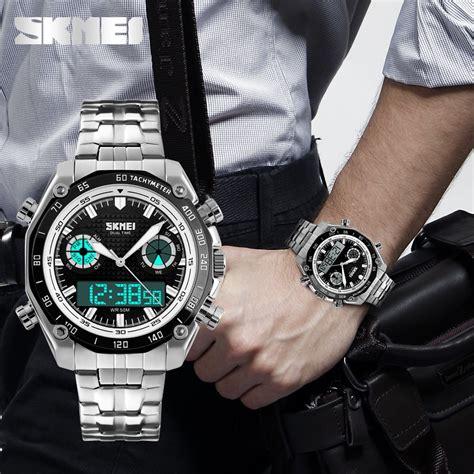Jam Tangan Skmei Analog Digital Pria Ad1204 Termurah skmei jam tangan analog digital pria ad1204 golden jakartanotebook