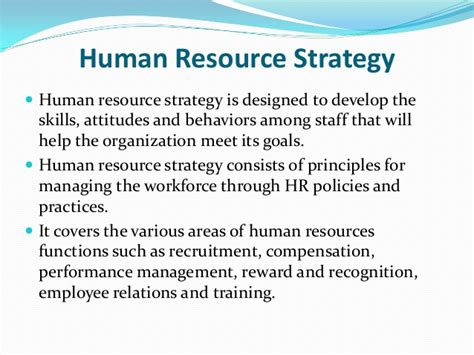 Strategic Human Resource Management Notes Mba by Aligning Compensation Strategy With Hr Strategy Business