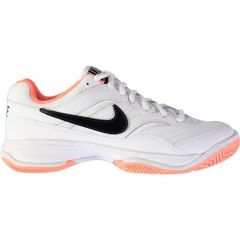 black nike tennis shoes womens nike court lite tennis shoes womens white black mango