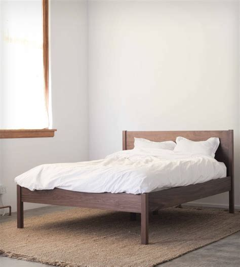 walnut bed frame headboard home furniture