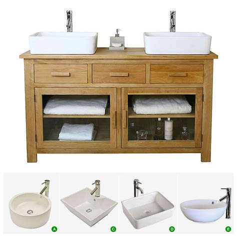 Two Basin Vanity Units by 50 Basin Vanity Unit With Oak Bathroom Cabinet