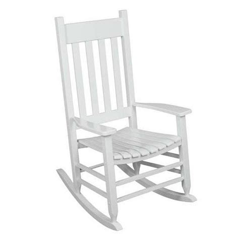 white outdoor rocking chair garden treasures wood rocking chair s with slat seat at