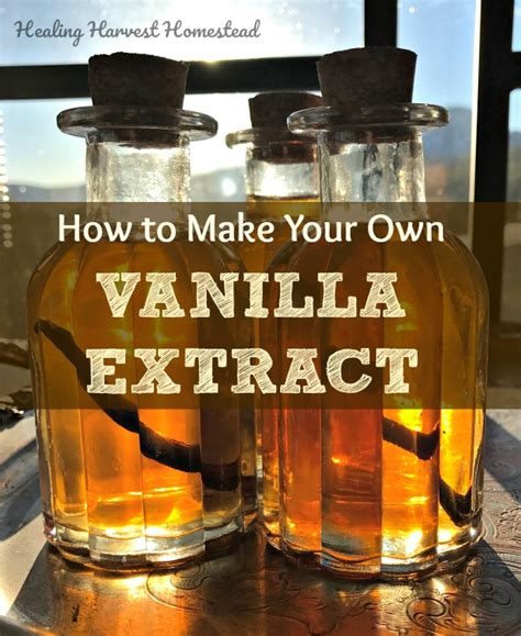 how to make your own vanilla extract so home