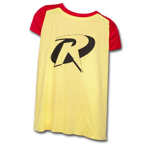 T Shirt Robin Yellow robin juniors t shirt with cape yellow