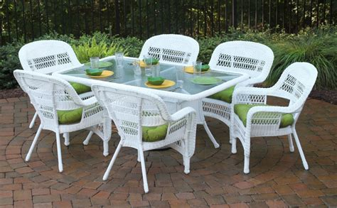 White Resin Patio Tables White Resin Wicker Chairs Outdoor Decorations