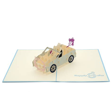 3d wedding card template wedding car pop up card custom high quality 3d wedding