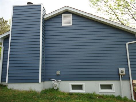 Insulated Room Dividers - architectural 7 quot wide insulated vinyl siding regatta blue white trim