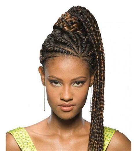 African Braids Hairstyles Pictures Ponytail | pictures of african american braided ponytail new