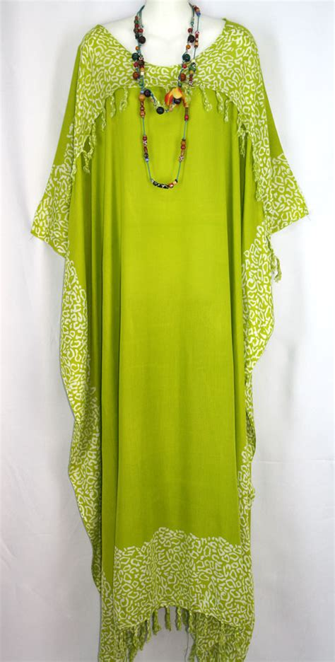 Dress Batik Big Damri Jumbo new green batik abstract hippie caftan kaftan dress plus