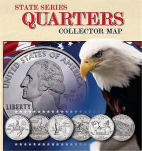 us quarter map books state series quarter collector map by whitman publishing