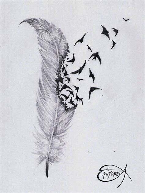 deviant tattoos feather by ephygenia on deviantart