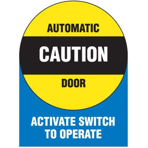 Automatic Door Signage - automatic door signs automatic door seton