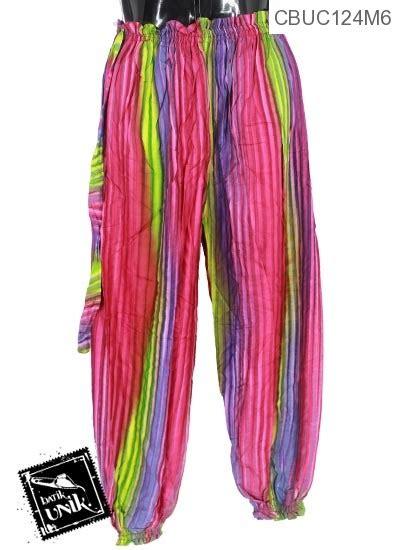 Celana Aladin Pelangi celana aladin motif salur pelangi bawahan rok murah