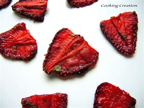 cooking creation easy oven dried strawberry leather slices