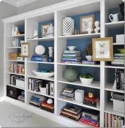 Bookshelves Look Built In Den Project Built In Billy Bookcase Ideas Southern