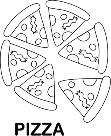 free coloring pages of slice pizza