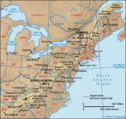 appalachian mountains canada map notes on landforms in atlantic canada