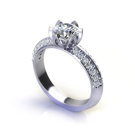 tulip set engagement ring jewelry designs
