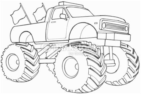 monster trucks drawings line drawing of a monster truck illustration thinkstock