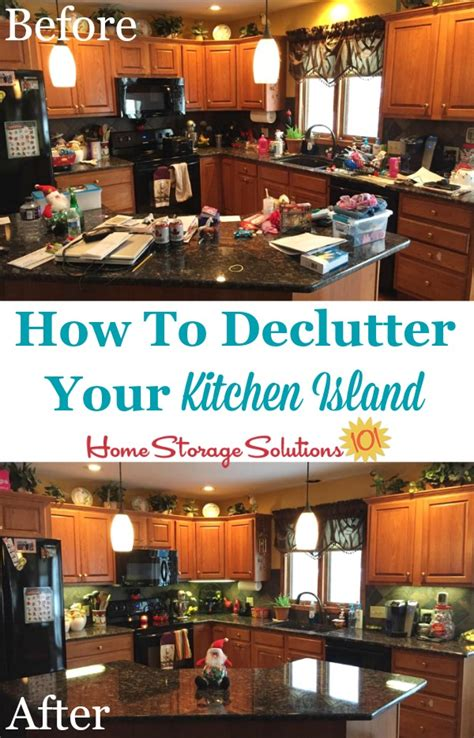 how to declutter kitchen how to declutter your kitchen island and keep it that way
