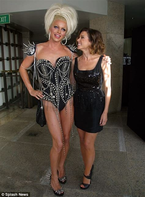 black cross dresser somerset new jersey dannii minogue and drag queen at style queen reality show