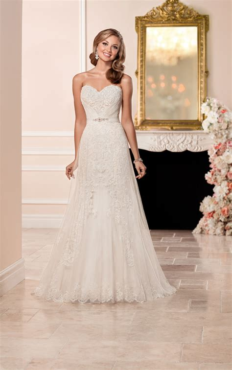 wedding dresses strapless strapless wedding dress with sweetheart neckline stella york