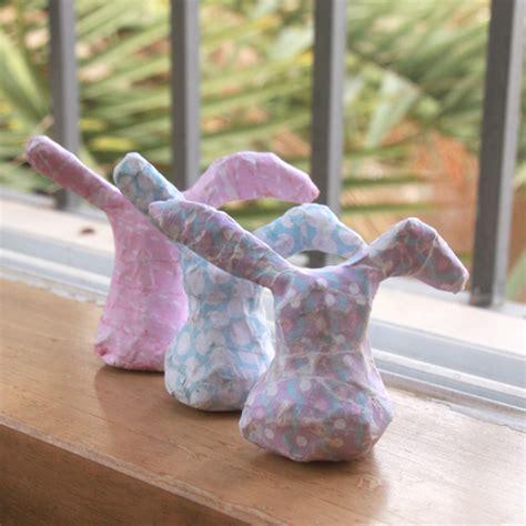 How To Make A Paper Mache Rabbit - diy paper mache bunnies world of pineapple