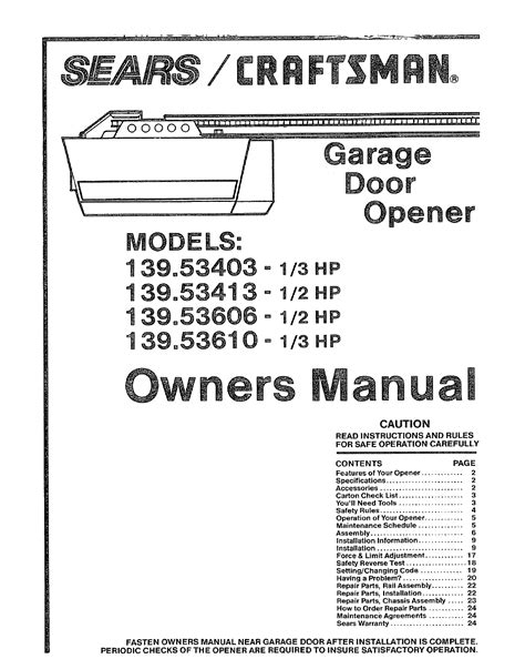 Sears Craftsman Garage Door Opener Wiring Diagram