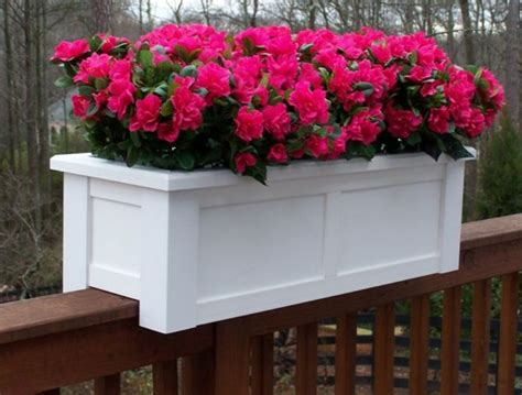 banister planters railing planters diy deck rail planter made from a