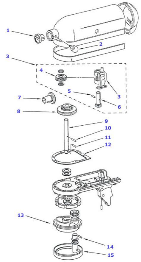 kitchenaid mixer parts diagram kitchenaid mixer parts center beater shaft pin 9707223 ebay
