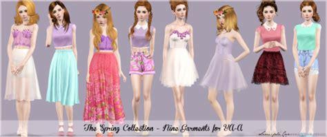 Nn Set Maxi Aida Purple lace collection flowers sims 3 s3cc ts3 cc