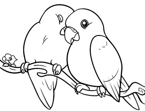 coloring pictures of lovebirds image gallery love birds coloring pages
