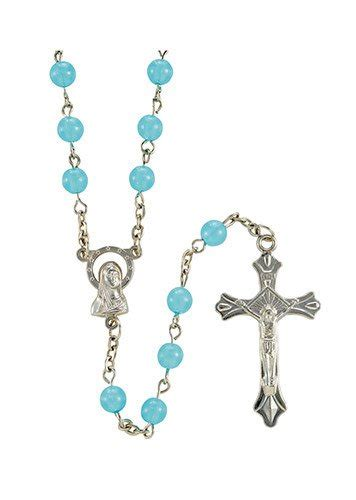 Blessed Mm 6mm blessed blue luminous rosary theactsstore