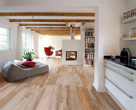 1 Floor Living by Porcelain Tile Kitchen Matched With Hardwood Floor Living