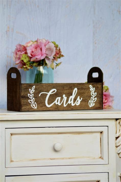 Bridal Shower Gift Card Box - modern wedding card box rustic card holder woodland wedding decor bohemian wedding