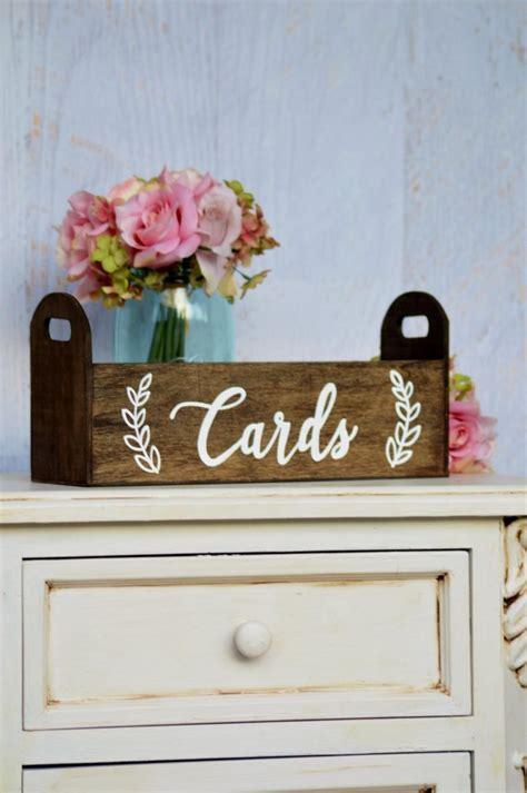 Modern Wedding Card Box, Rustic Card Holder, Woodland
