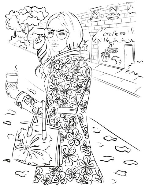 fashion coloring page archives elena fay