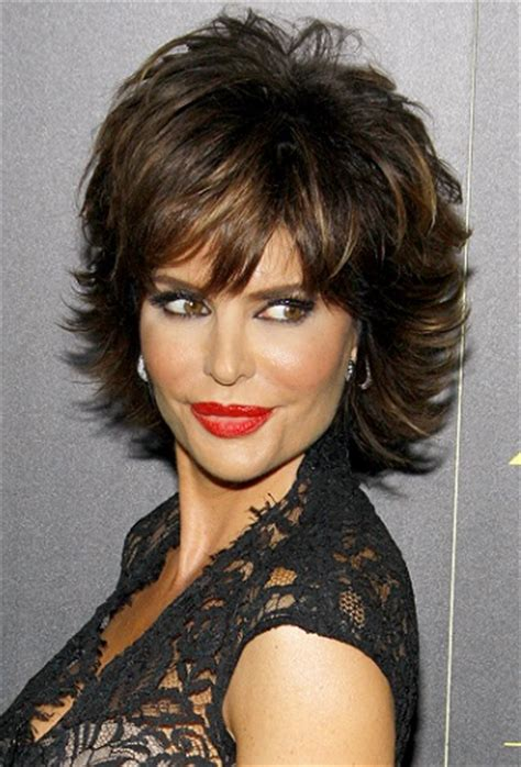 lisa rinna hairstyles short hairstyles for oval faces over 50 with red curly