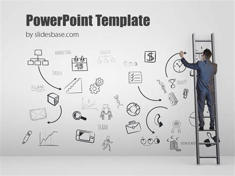 writing powerpoint template present a plan powerpoint template slidesbase