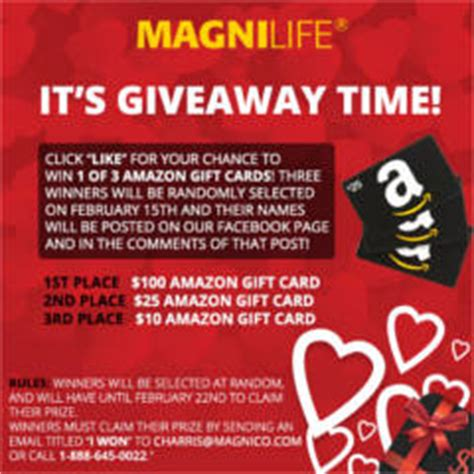 7 Eleven Amazon Gift Card - magnilife health products amazon gift card giveaway i crave freebies
