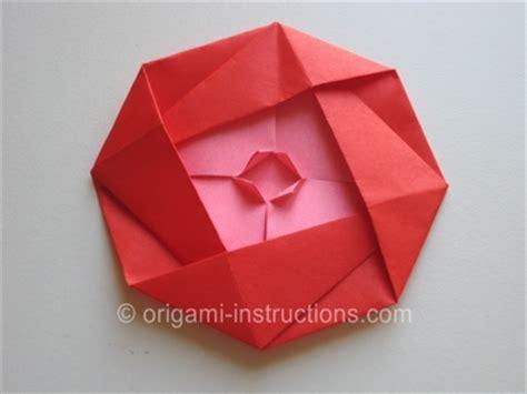 Origami Paper Edmonton - origami camellia folding how to fold an