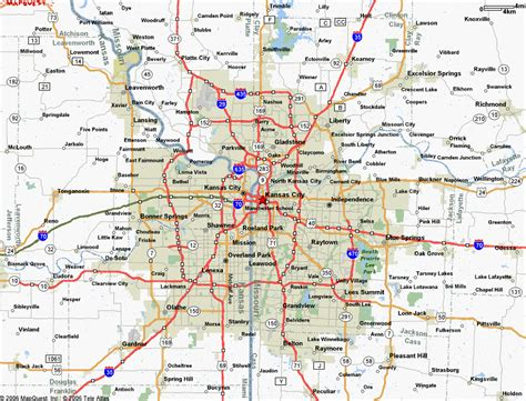 map of kansas city map of kansas city mo