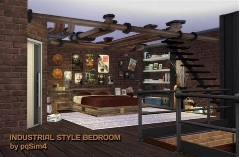 industrial style bedroom furniture industrial style bedroom at pqsims4 187 sims 4 updates