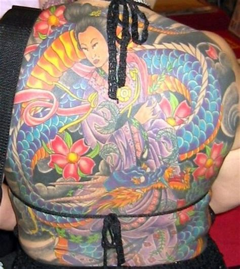 tattoo geisha dragon colourful detailed geisha and dragon tattoo tattooimages biz