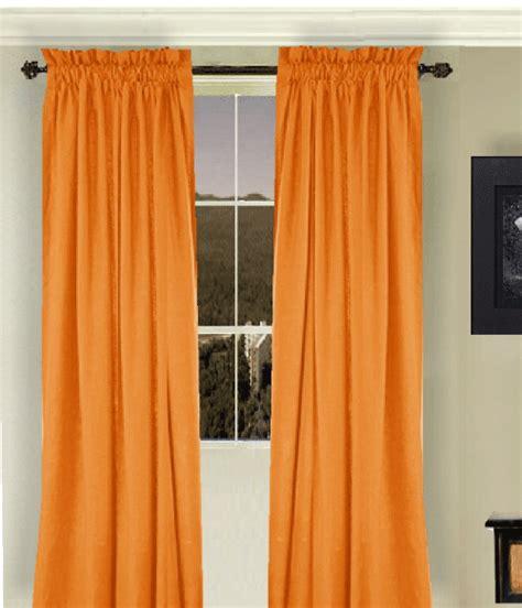 orange valance curtains orange long curtain set