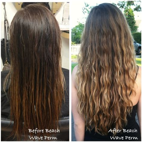 before and after photos of permant waves with frizzy hair before and after beach wave perm done by taylor yelp